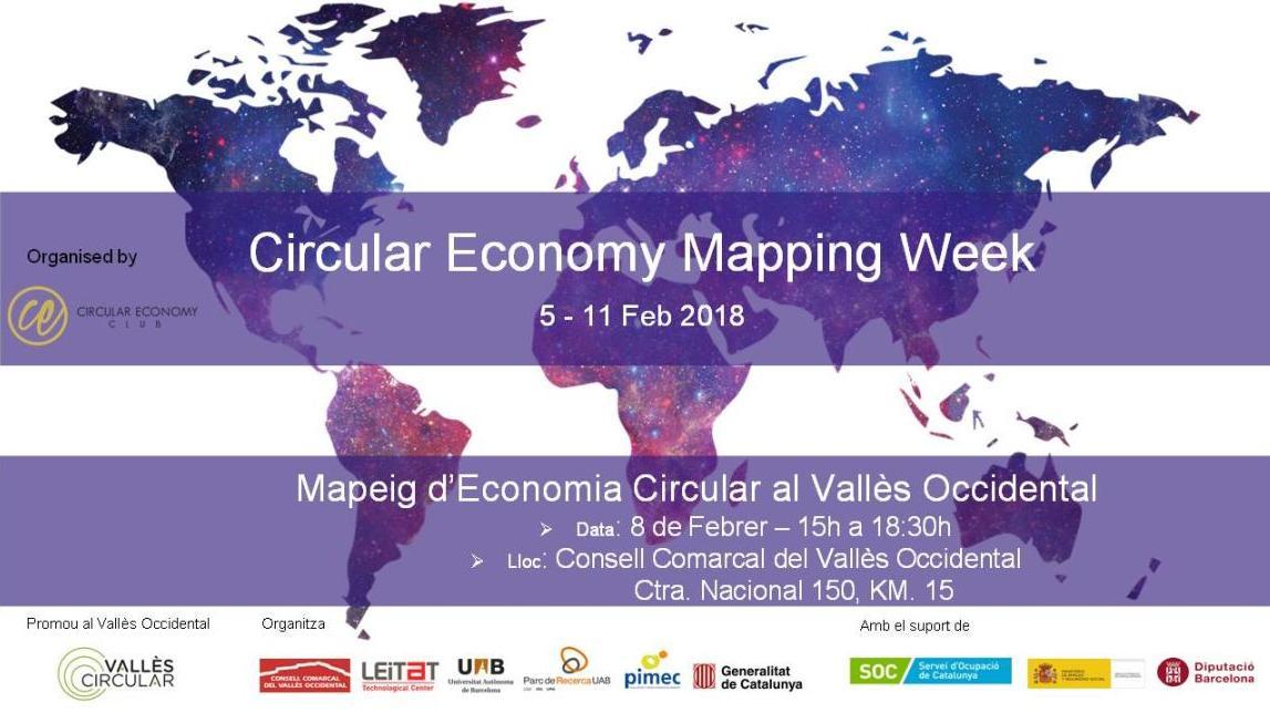 """Inscripcions obertes per a la primera edició de """"Mapeig d'Economia Circular al Vallès Occidental""""."""